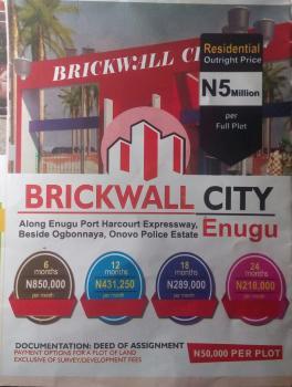 Plots of Land, Brickwall City Estate, Enugu-port Harcourt Expressway Road, Before Four Corner, Nkanu, Enugu, Residential Land for Sale