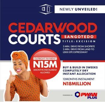 Beautiful Dry Land in a Gated Estate, Sangotedo - Cedarwood Court, Hope Ville Estate, Sangotedo, Ajah, Lagos, Residential Land for Sale