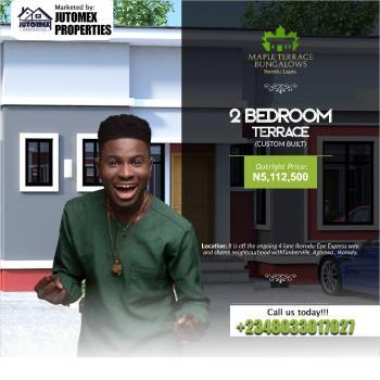 2 Bedroom Terrace (custom Built), Off The Ongoing 4 Lane Ikorodu -epe Expressway, Agbowa, Ikorodu, Lagos, Terraced Bungalow for Sale