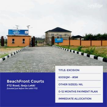 Land, Beachfront Courts, Beside Lekki Free Trade Zone, Ibeju Lekki, Lagos, Residential Land for Sale