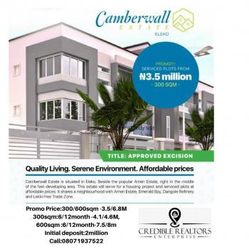 Camberwall Estate, Beside Amen Estate, Eleko, Ibeju Lekki, Lagos, Residential Land for Sale