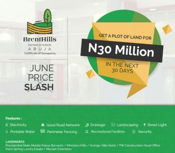 Brenthills Estate, Maitama Extension, Mpape, Abuja, Residential Land for Sale