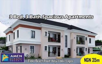3 Bedroom, 3 Bathroom Spacious Apartment, Eleko Beach Road, Eleko, Ibeju Lekki, Lagos, Flat for Sale