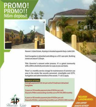 Heavens Gate Estate. Title: Governors Consent, Aiyeteju, Opposite Ibeju-lekki Lcda Office, Lakowe, Ibeju Lekki, Lagos, House for Sale