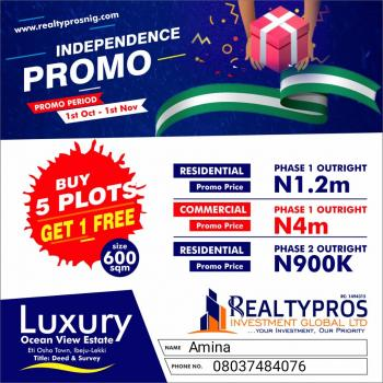 Land for Investment, Directly Opposite La Campagne Tropicana Facing The Expressway. Eti Osho Town, Ibeju Lekki, Lagos, Mixed-use Land for Sale