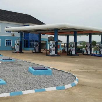 Newly Constructed 8 Pumps Filling Station Ready to Use, Airport Rd. By Centenary City, Kyami, Abuja, Filling Station for Sale