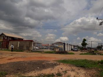 Fenced Land Measuring 4600sqm  Suitable for School, Event Center, Trailer Park, By Fagbems Oil, Directly on Lagos Ibadan Express, Berger, Arepo, Ogun, Factory for Sale