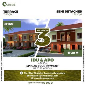 Luxury 3 Bedroom Terrace Apartment, Karmo, Abuja, Terraced Duplex for Sale