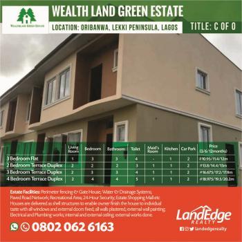 3 Bedroom Duplex with C of O, Oribanwa, By Mayfair Gardens, Awoyaya, Ibeju Lekki, Lagos, Terraced Duplex for Sale