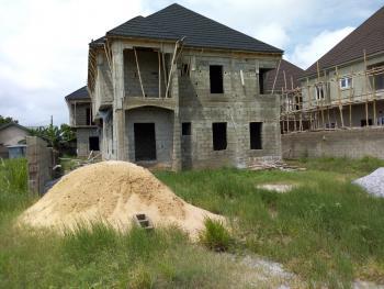 4 Bedroom with 1 Room Bq Detached Duplex Carcass, Eden Garden Estate, Ajah, Lagos, Detached Duplex for Sale