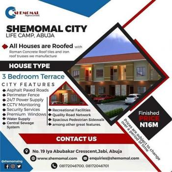 Luxury 3 Bedroom Terrace with Top Class Facilities, Opposite Brains and Hammers Estate, Ido, Life Camp, Gwarinpa, Abuja, Terraced Duplex for Sale