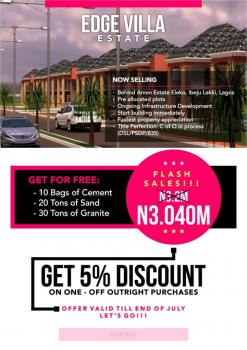 Product of The Day: Edge Villa Estate, Just Behind Amen Estate, Eleko, Ibeju Lekki, Lagos, Residential Land for Sale