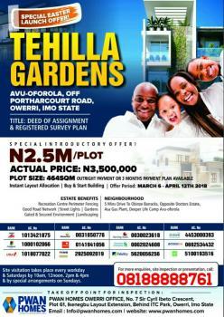 Tehilla Gardens Owerri Avu-oforola, Isolo, Lagos, Mixed-use Land for Sale