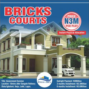 Bricks Courts, 10 Minutes Drive After Dangote Refinery, Otolu/igbolomi, Ibeju Lekki, Lagos, Residential Land for Sale