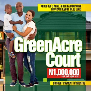 Greenacre Courts, Akodo Ise, Ibeju Lekki, Lagos, Residential Land for Sale