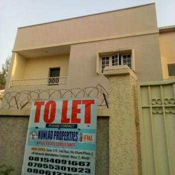 a Newly Built and Partly Serviced 5 Bedroom Apartment, Maitama District, Abuja, Semi-detached Duplex for Rent