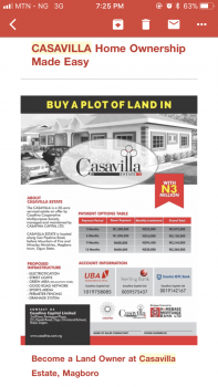 Cassavilla Estate, Magboro, Ogun, Mixed-use Land for Sale