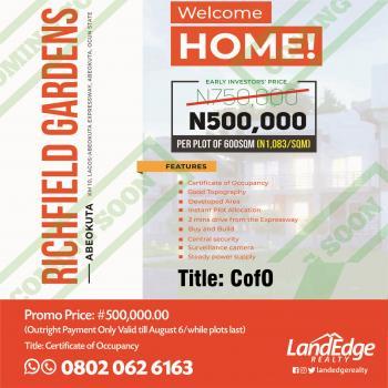 Richfield Gardens, Km 10, Lagos Abeokuta Expressway, Opposite Midland Galvanising Company, Abeokuta North, Ogun, Residential Land for Sale