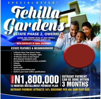 Tehilla Gardens, Phase 2, Off Airport Junction, Owerri-aba Road, Ngor Okpala, Imo, Residential Land for Sale