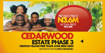 600 Sqm Land, Ceedar Wood Phase 3, Lekki Free Trade Zone, Lekki, Lagos, Residential Land for Sale