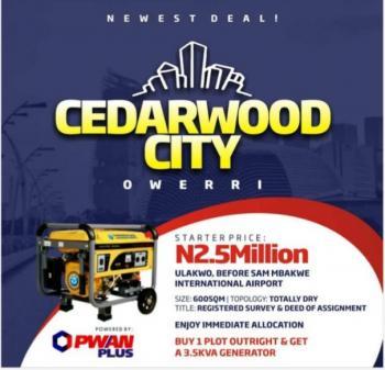 Cedarwood City, Ulakwo,  Before Sam Mbakwe International Airport, Ngor Okpala, Imo, Land for Sale