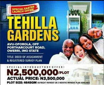 Tehilla Gardens, Avu-oforola, Owerri-port Hacourt Road, Owerri, Imo, Residential Land for Sale
