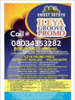 Sweet Estate Ileya Groove Promo, Mawuko Abeokuta, Near Funnab Satellite Campus, Odeda, Ogun, Residential Land for Sale