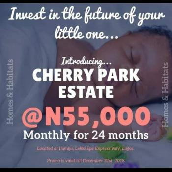 Cherry Park Estate. Ibeju Lekki, 7mins Drive From Lekki Free Trade Zone. Buy 5 & Get 1 Free, Lakowe, Ibeju Lekki, Lagos, Residential Land for Sale