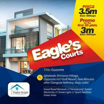 Plots of Land, Eagle Court Estate, Directly Opposite International Golf Course,  Igbekodo, Along Lekki Free Trade Zone, Iberekodo, Ibeju Lekki, Lagos, Residential Land for Sale