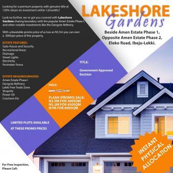 Lake Shore Garden, New International Airport Road, Lekki Free Trade Zone, Lekki, Lagos, Residential Land for Sale