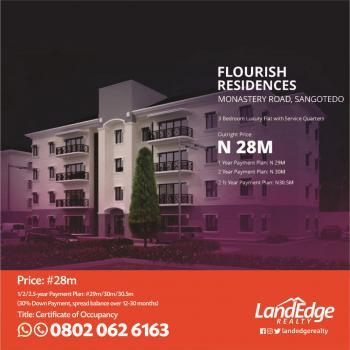 Luxury 3 Bedroom Flats, Monastery Road, Sangotedo, Ajah, Lagos, Block of Flats for Sale