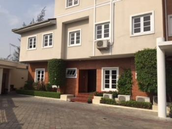 4 Bedroom Tastefully Finished Wing of Duplex with Bq, Banana Island, Ikoyi, Lagos, Semi-detached Duplex for Rent