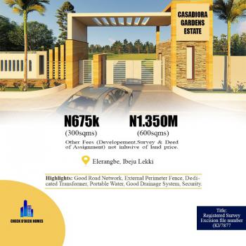 Dry and Affordable Land, Casadiora Homes and Gardens Estate, By New International Airport, Eleranigbe, Ibeju Lekki, Lagos, Residential Land for Sale