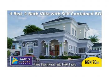 4 Bedroom, 4 Baths Villa with Bq (serviced), Amen Estate Phase 2, Along Eleko Beach Road, Ibeju Lekki, Eleko, Ibeju Lekki, Lagos, Detached Duplex for Sale