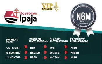 Vip Gardens, Boys Town, Ipaja, Lagos, Residential Land for Sale