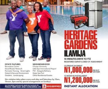 100% Dry Land  at Heritage Gardens, Ilamija, Close to The Ibeju International Airport, Heritage Gardens, Ilamija, Oribanwa, Ibeju Lekki, Lagos, Mixed-use Land for Sale