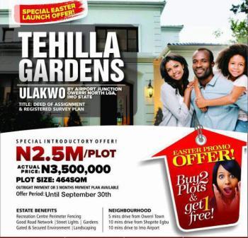 Tehilla Gardens, Ulakwo, Owerri North, By Airport Junction, Owerri North, Ulakwo, Owerri North, Imo, Residential Land for Sale