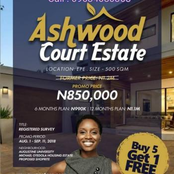 Buy 5 Plots and Get One Free at Ashwood Court,epe, Ashwood Court, Epe, Lagos, Residential Land for Sale