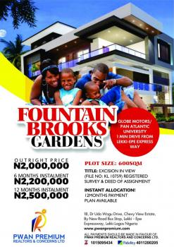 Fountain Brooks Estate Beside Pan African University, Eleko, Fountain Brooks, Beside Pan African University, Ibeju, Lagos, Residential Land for Sale
