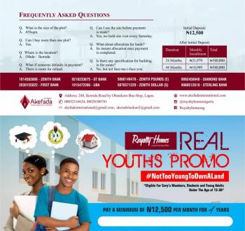 New Real Youths Promo, Agbowa, Ikorodu, Lagos, Residential Land for Sale
