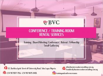 Training and Conference Rooms Facilities, Bvc Consulting Ltd 32, Barikisu Iyede Street, Off University Road, Abule Oja, Yaba. Lagos. Nigeria., Abule Oja, Yaba, Lagos, Conference / Meeting / Training Room for Rent