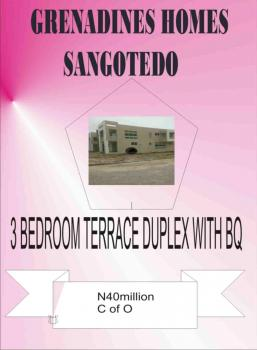 Luxury 3 Bedroom Terraced Duplex, Opposite Monastery Road, Sangotedo, Ajah, Lagos, Terraced Duplex for Sale