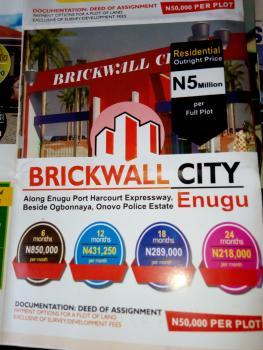 Estate Plots of Land, Brickwall City, Along Enugu - Portharcourt Expressway, Beside Ogbonnaya, Onovo Police Estate, Nkanu, Enugu, Residential Land for Sale