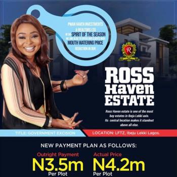 Ross Haven Estate Along Lekki Trade Zone Road, Eleko, Ross Haven Estate, Ibeju, Lagos, Residential Land for Sale