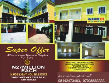 Four Bedroom Duplex, Inside Light House Estate, Airport Road, Lugbe District, Abuja, Terraced Duplex for Sale