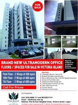 Pentfloor 450 Square Meters Office Space/floor, Off Idowu Taylor Street, Victoria Island (vi), Lagos, Office Space for Sale