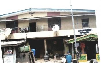 a Distressed House Facing The Major Road, Alhaja Bishop, Dopemu, Agege, Lagos, Detached Duplex for Sale