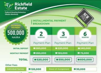 Richfield Estate, Iyana Housing, Obada Town, Abeokuta North, Ogun, Residential Land for Sale