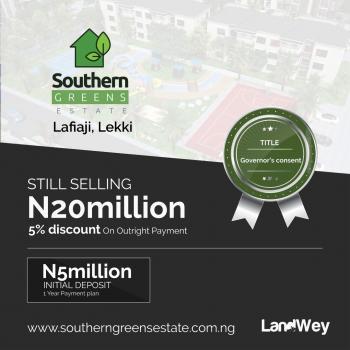 Plots of Land, Southern Green Estate, Lafiaji, Lekki, Lagos, Residential Land for Sale