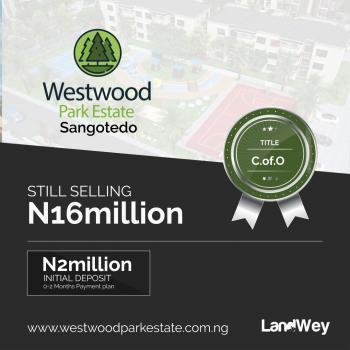 Plots of Land, Westwood Estate, Sangotedo, Ajah, Lagos, Residential Land for Sale